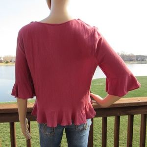 Arizona Jean Company Tops - 🎉2 for 15🎉 Ruffled Ruched Bell Sleeve Blouse